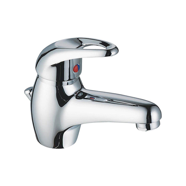 OBI Einhebelmischer-Waschbeckenarmatur Tibio verchromt   Bad > Armaturen > Waschtischarmaturen   Silberfarben   OBI Deco-Line