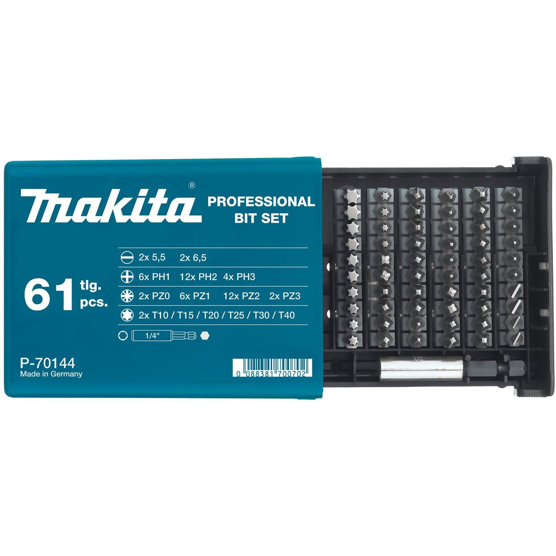 Makita Bit-Set 61-teilig P-70144 | Baumarkt > Werkzeug > Werkzeug-Sets | Makita