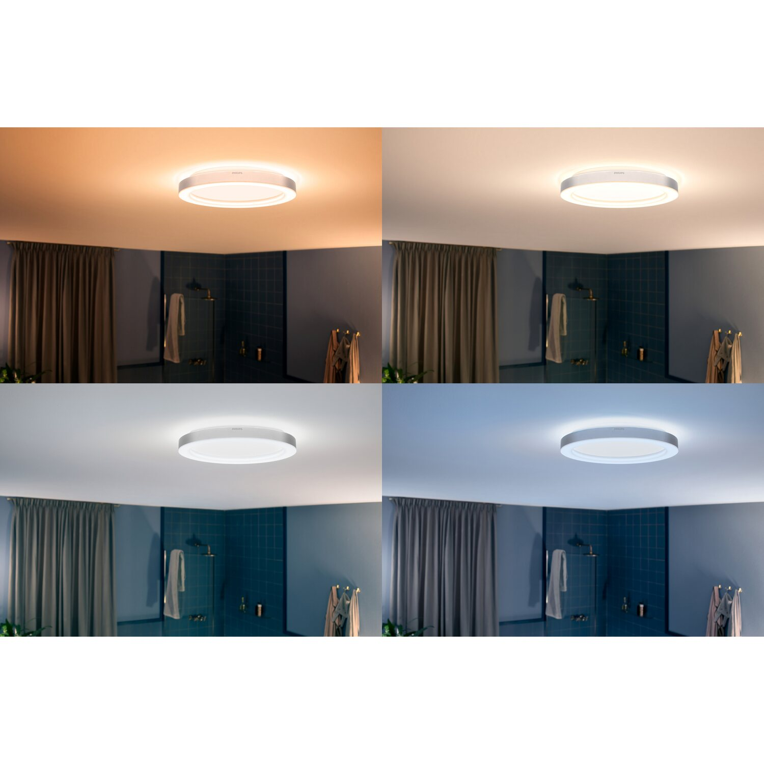 Philips Hue LED-Deckenleuchte Adore White Ambiance inkl. Dimmer Chrom EEK:  A+