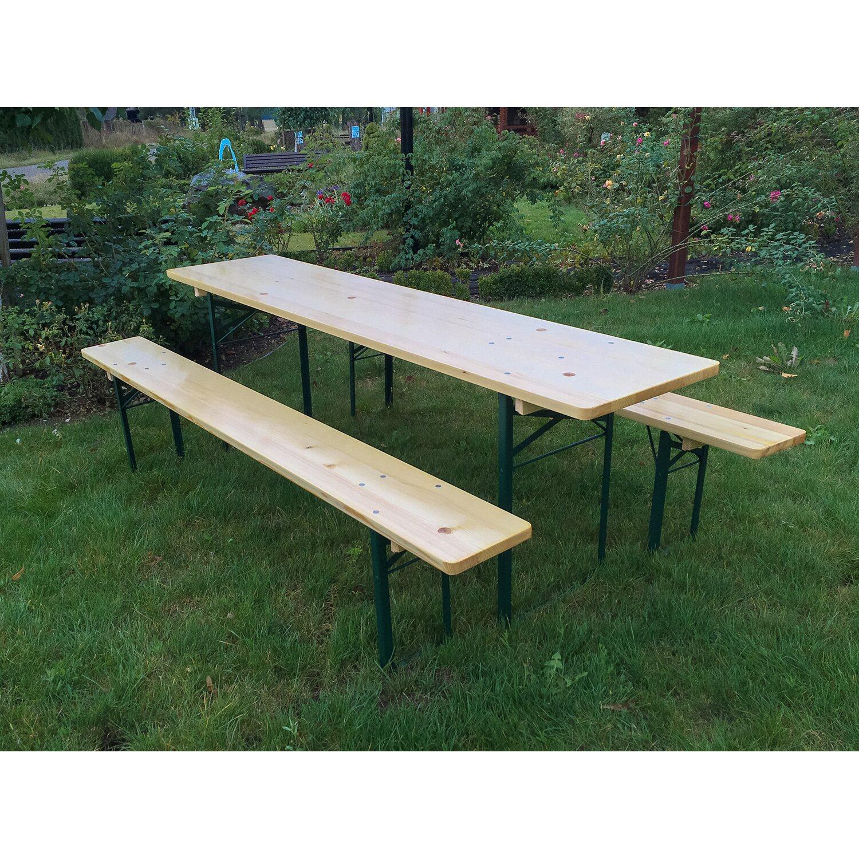 Bierzelt Garnitur klappbar mit 50 cm breitem Tisch