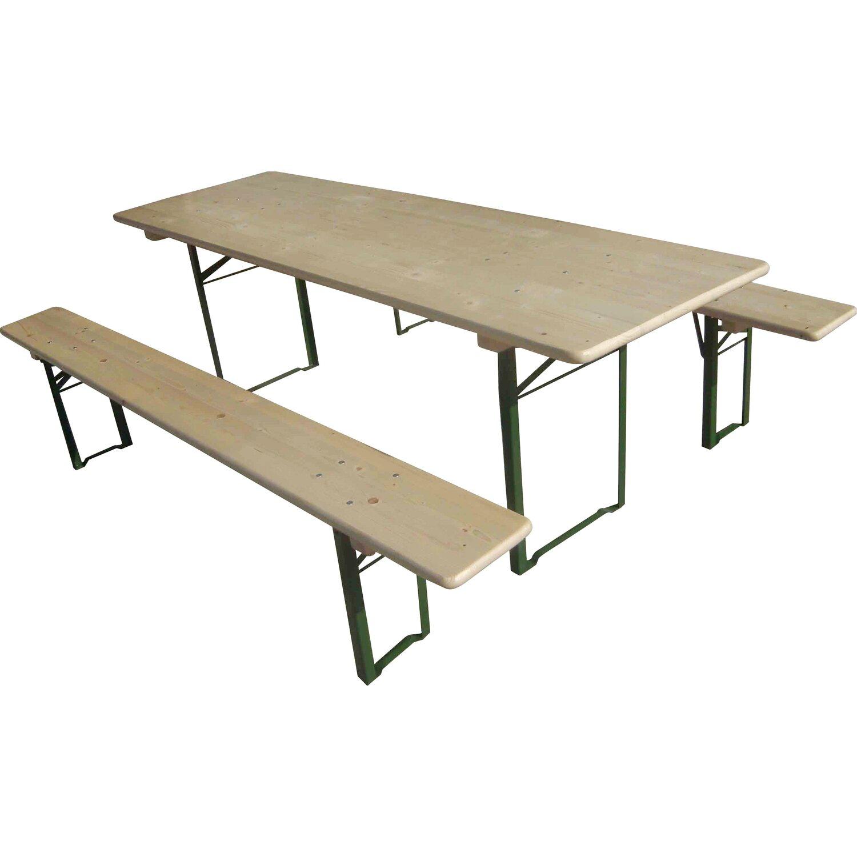 Bierzelt Garnitur klappbar mit 70 cm breitem Tisch