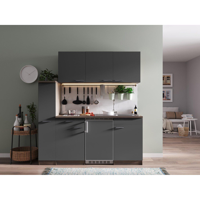 respekta k chenzeile kb180eygc 180 cm grau eiche york nachbildung kaufen bei obi. Black Bedroom Furniture Sets. Home Design Ideas