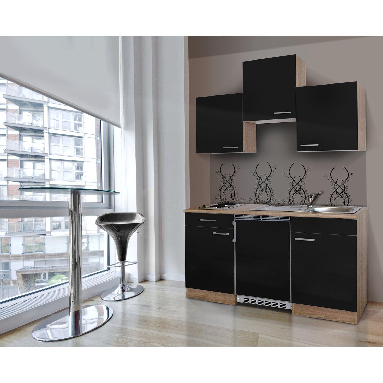 respekta k chenzeile kb150ess 150 cm schwarz eiche s gerau kaufen bei obi. Black Bedroom Furniture Sets. Home Design Ideas