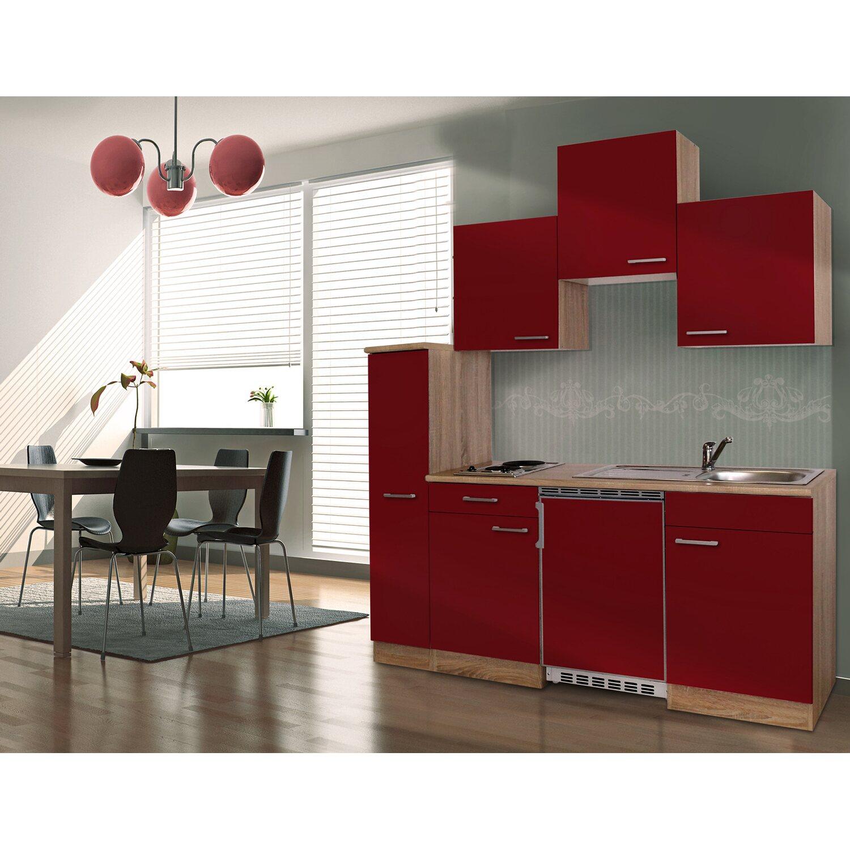 respekta k chenzeile kb180esr 180 cm rot eiche sonoma s gerau nachbildung kaufen bei obi. Black Bedroom Furniture Sets. Home Design Ideas