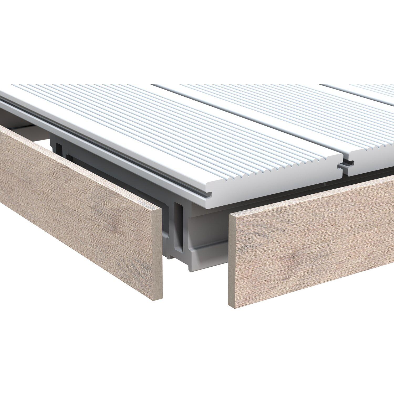 abschlussleiste dreamdeck bicolor sand 2 m kaufen bei obi. Black Bedroom Furniture Sets. Home Design Ideas