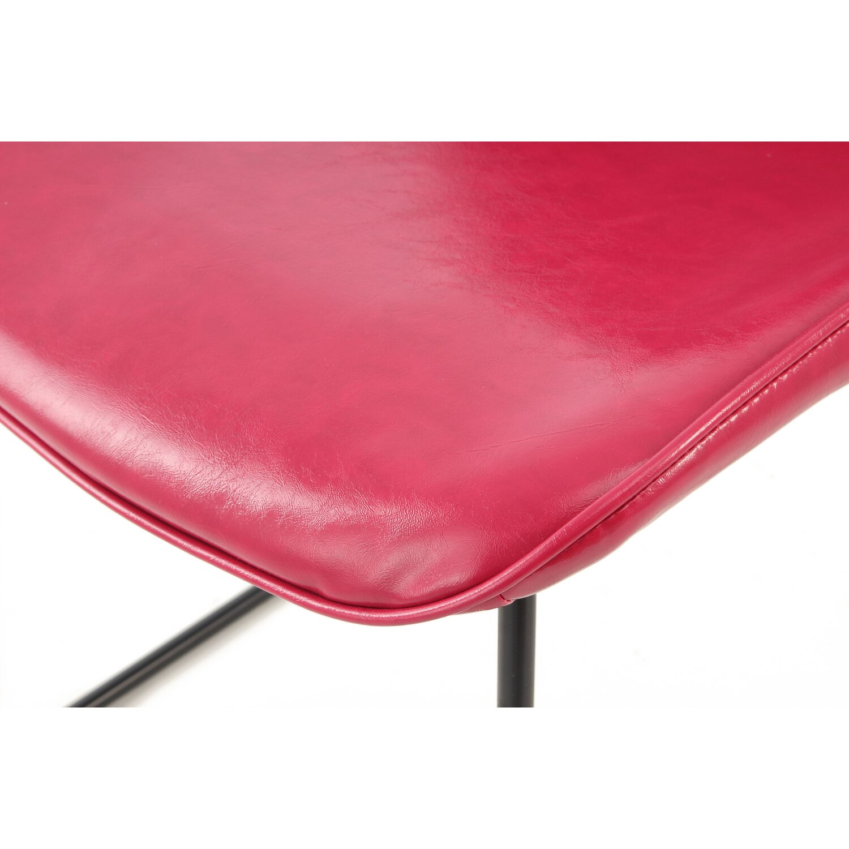 Kayoom Stuhl Cora 110 2er Set Pink Rot 64,5 cm x 79 cm x 49,5 cm