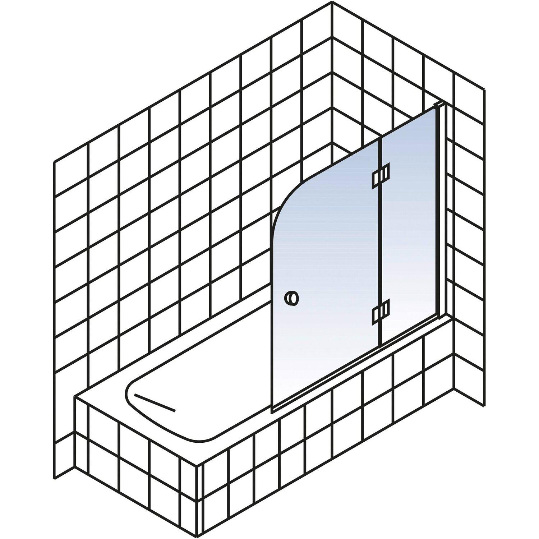 schulte badewannenaufsatz 2 teilig dekor liane chrom optik kaufen bei obi. Black Bedroom Furniture Sets. Home Design Ideas