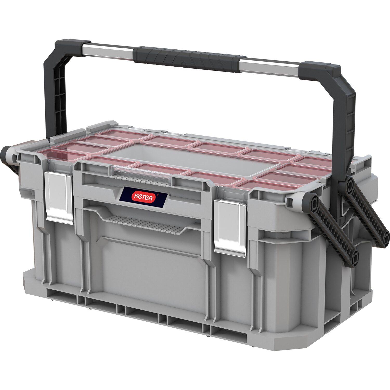 Keter Connect System Cantilever Werkzeugbox   Baumarkt > Werkzeug > Werkzeug-Sets   Transparent   Keter
