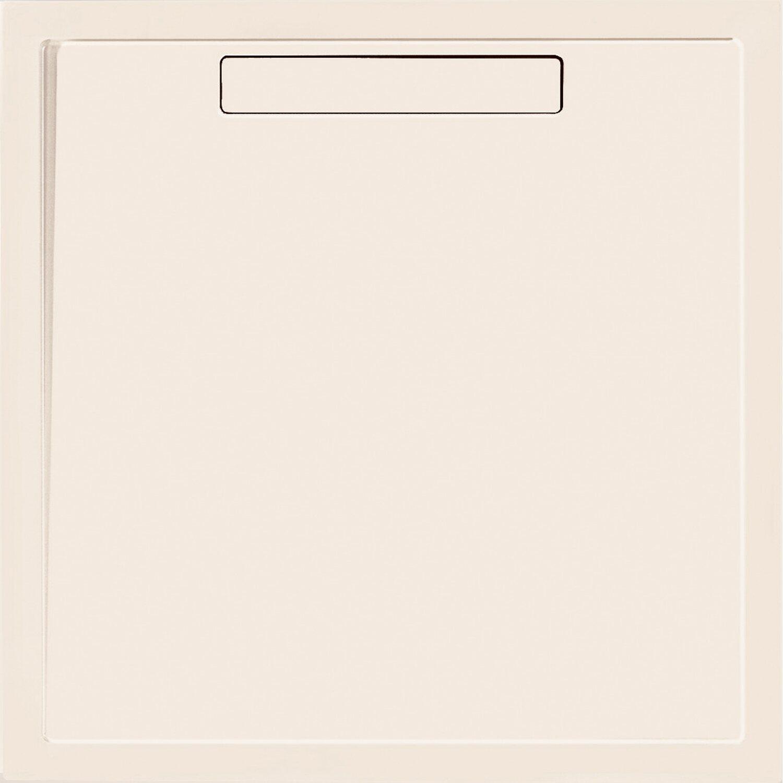 Villeroy & Boch Rechteck-Duschwanne Squaro 90 cm x 90 cm x 1,8 cm Creme