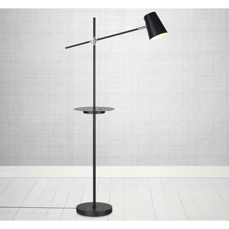 Moderne Stehlampe E14 Metall Schlicht Schwarz Zeitlos Stehleuchten