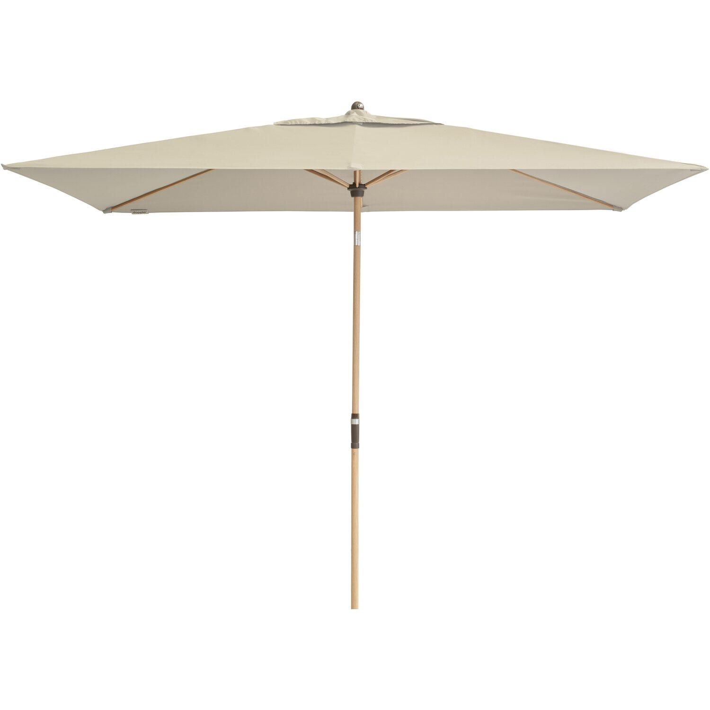 doppler alu wood sonnenschirm rechteckig natur kaufen bei obi. Black Bedroom Furniture Sets. Home Design Ideas