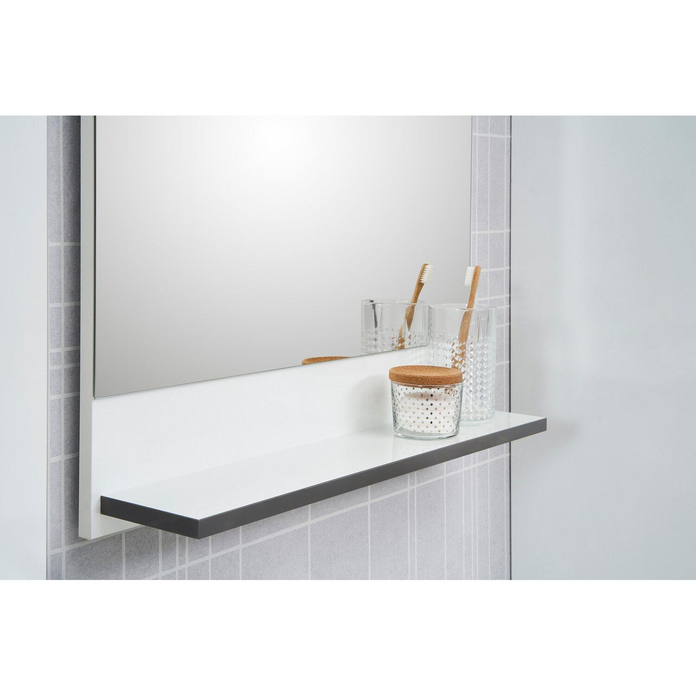 Badezimmerspiegel Mit Beleuchtung Und Ablage.Pelipal Spiegel Mit Ablage 60 Cm Schwerin Weiss Kaufen Bei Obi