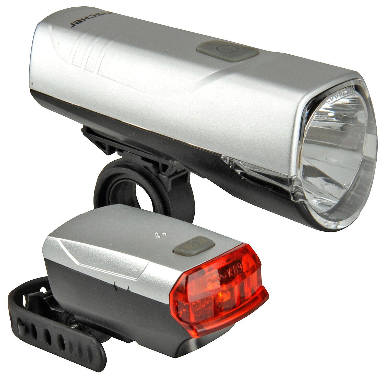 FISCHER FAHRRAD Fischer Fahrrad-Beleuchtungsset LED 20/10 Lux Schwarz