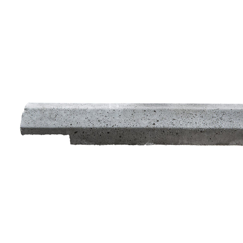 Beckers Betonzaun Betonzaun-Anfangsoberlatte doppelseitig 206 cm x 15 cm x 8 cm