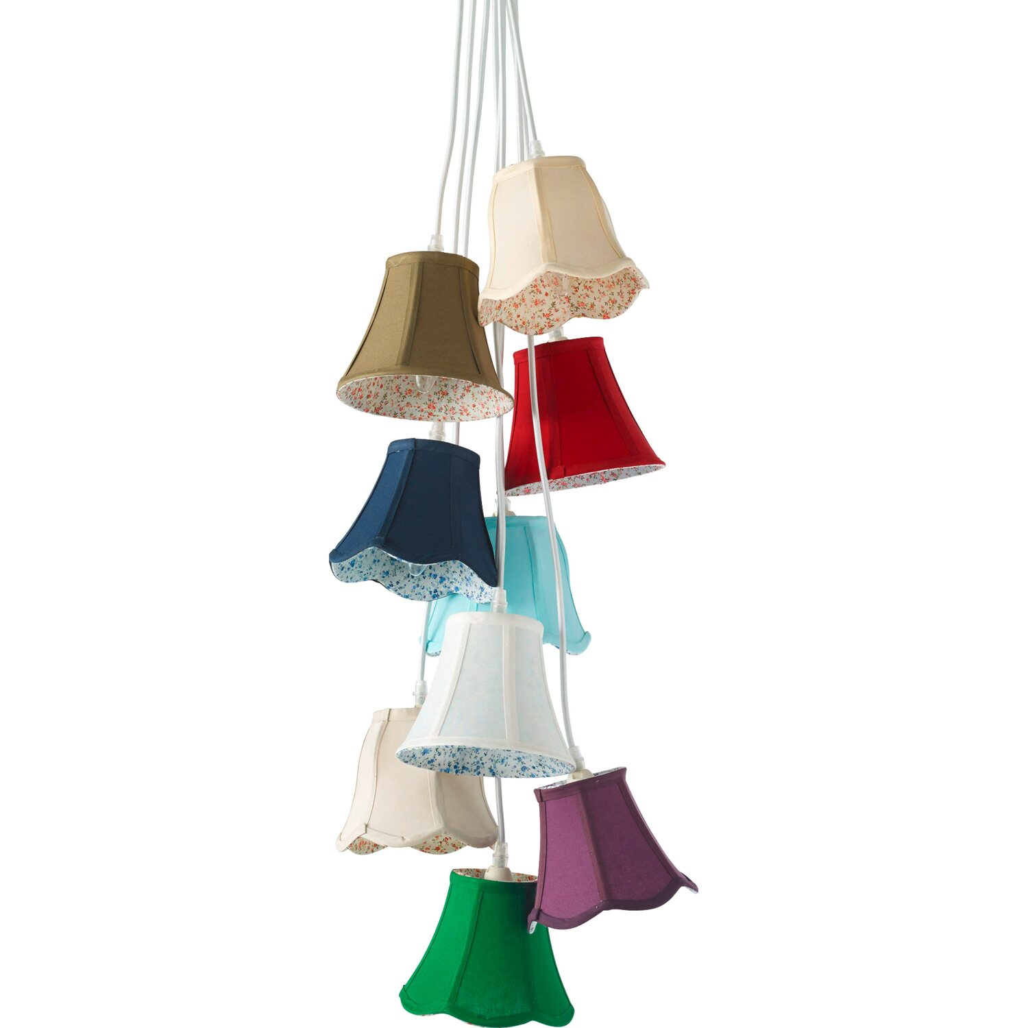 best of home Best of home Pendelleuchte EEK: E-A++ Bunte Lampenschirme