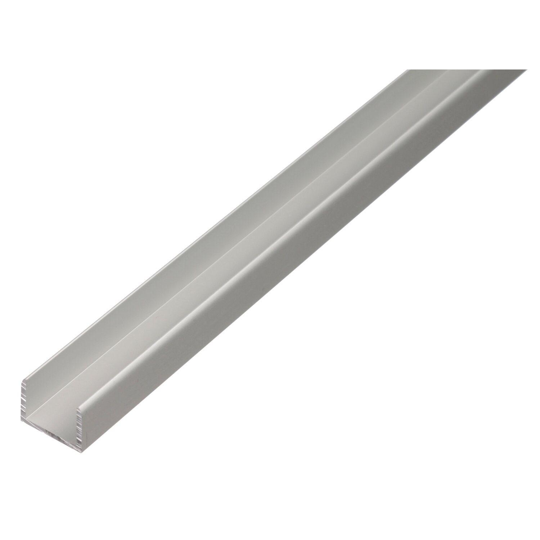 U-Profil selbstklemmend Silber eloxiert 15 mm x...