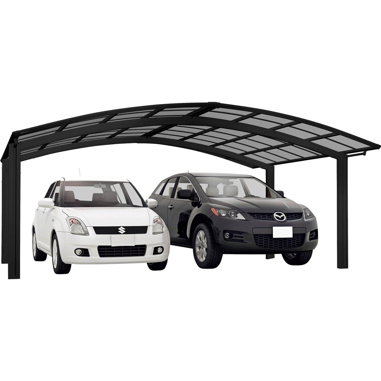 Ximax Alu Doppelcarport Portoforte Typ 60 Schwarz 542 x 495 cm Sonderfertigung   Baumarkt > Garagen und Carports > Carports   Ximax