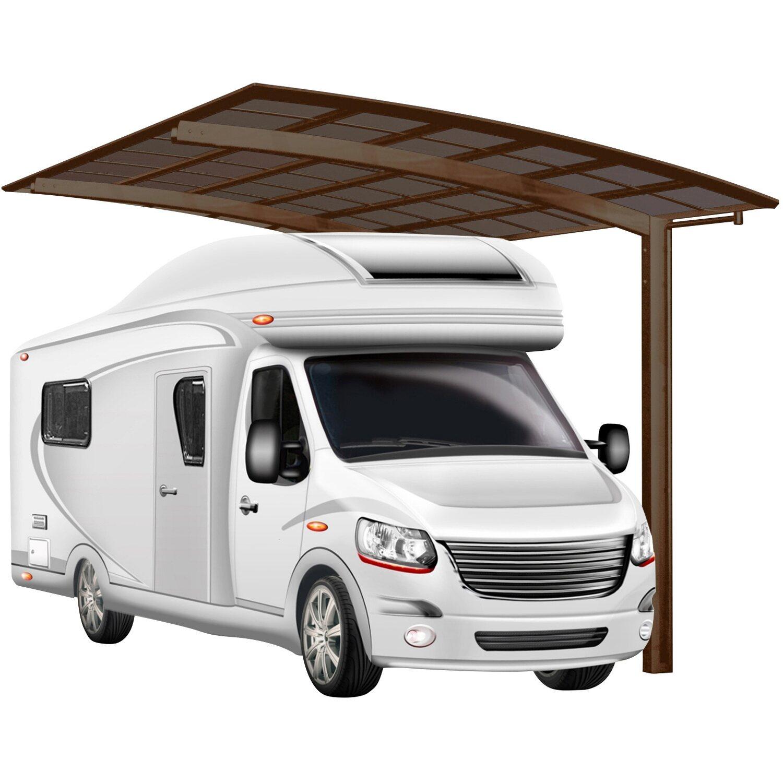 Ximax Alu Carport Portoforte Caravan Typ 80 Mattbraun 270x495cm Sonderfertigung | Baumarkt > Garagen und Carports | Ximax
