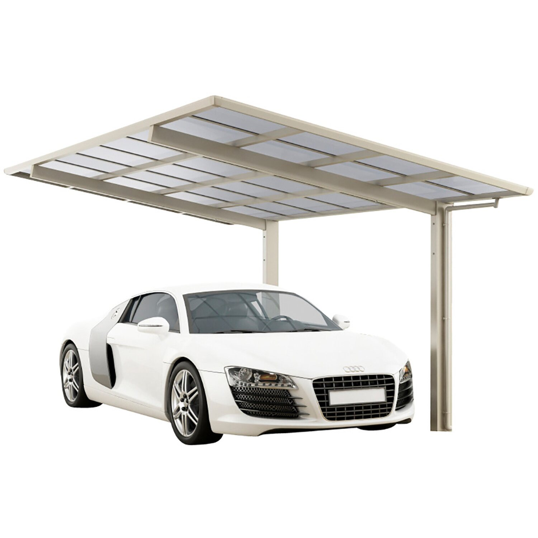 Ximax Alu Carport Linea Typ 60 Edelstahl-Look XL 302 x 495 cm Sonderfertigung   Baumarkt > Garagen und Carports > Carports   Ximax