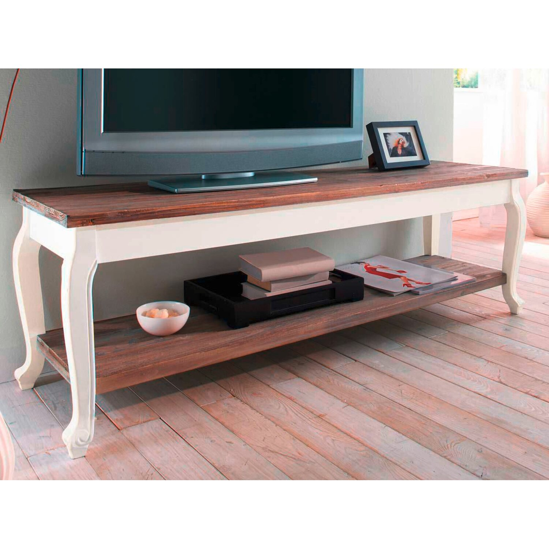Best Of Home Tv Tisch Landhaus Weiss Natur Kaufen Bei Obi