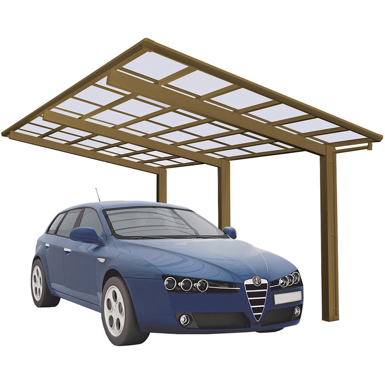 Ximax Alu Einzelcarport Linea Typ 110 Bronze XS 243 x 495 cm Sonderfertigung | Baumarkt > Garagen und Carports > Carports | Aluminium - Polycarbonat - Samt | Ximax