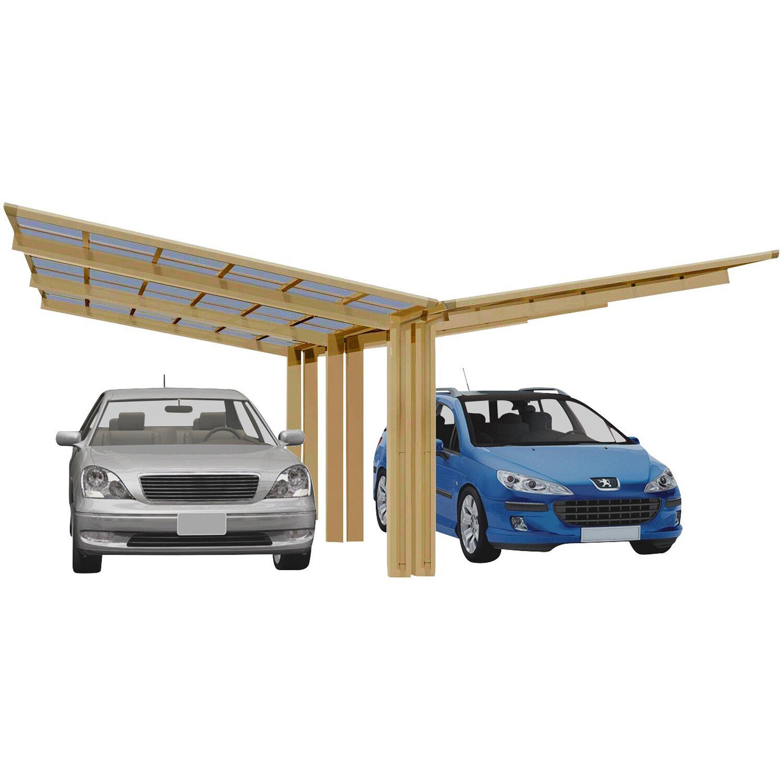 Ximax Alu Doppelcarport Linea Typ 170 Bronze 548 x 495 cm Sonderfertigung | Baumarkt > Garagen und Carports | Ximax