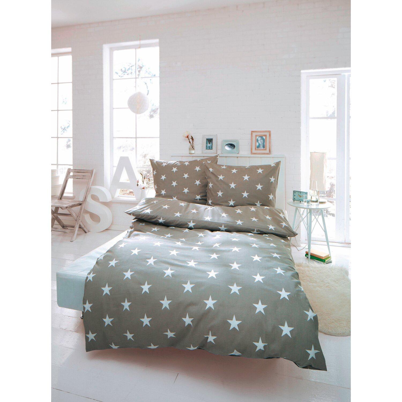 best of home bettw sche sterne 155 cm x 220 cm hellgrau. Black Bedroom Furniture Sets. Home Design Ideas