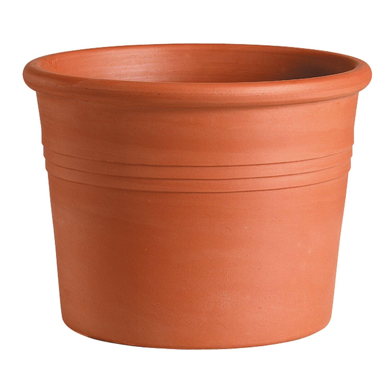 Deroma pflanztopf zylinder bordato 33 cm rot kaufen bei obi for Terracotta gartendekoration
