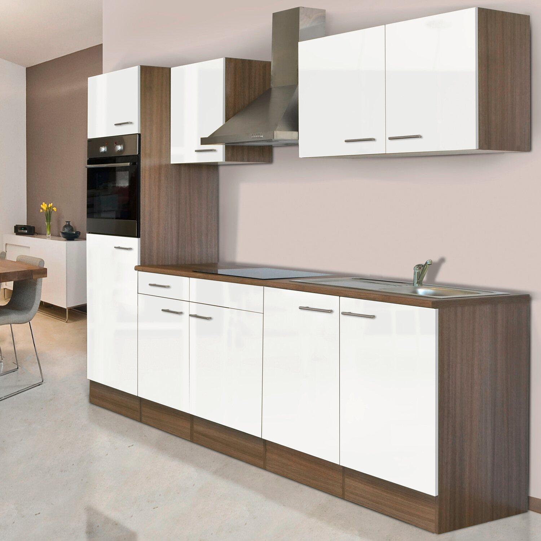 respekta k chenzeile kb270eyw 270 cm wei seidenglanz eiche york nachbildung kaufen bei obi. Black Bedroom Furniture Sets. Home Design Ideas