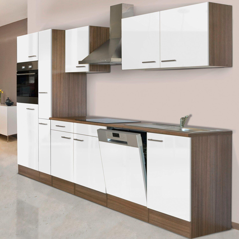 respekta k chenzeile kb310eyw 310 cm wei seidenglanz eiche york nachbildung kaufen bei obi. Black Bedroom Furniture Sets. Home Design Ideas