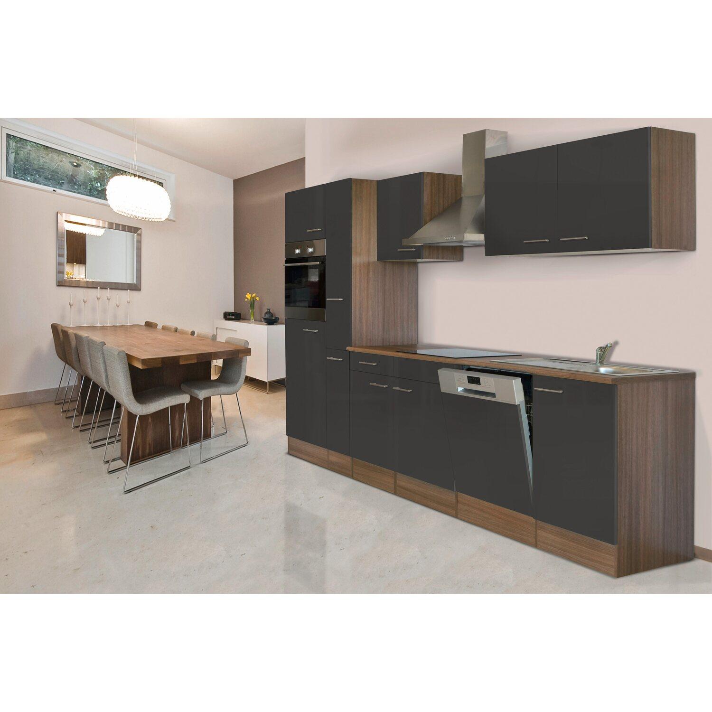 respekta k chenzeile kb310eyg 310 cm grau seidenglanz eiche york nachbildung kaufen bei obi. Black Bedroom Furniture Sets. Home Design Ideas