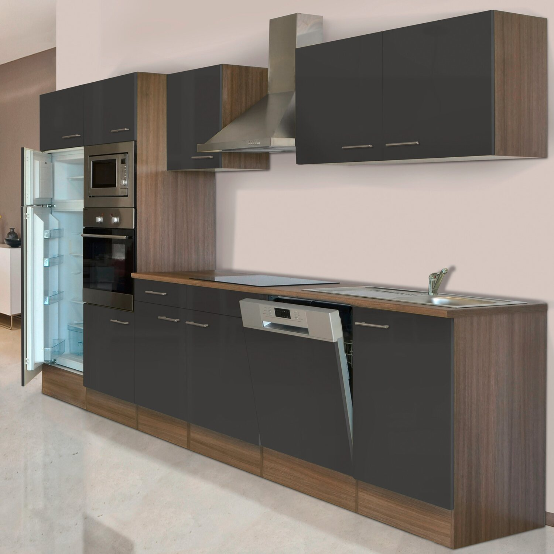 respekta k chenzeile kb340eygmigke 340 cm grau eiche york. Black Bedroom Furniture Sets. Home Design Ideas