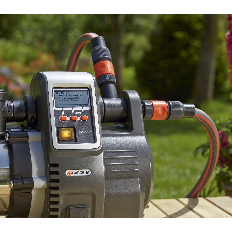 gardena premium hauswasserautomat 6000 6e lcd inox. Black Bedroom Furniture Sets. Home Design Ideas