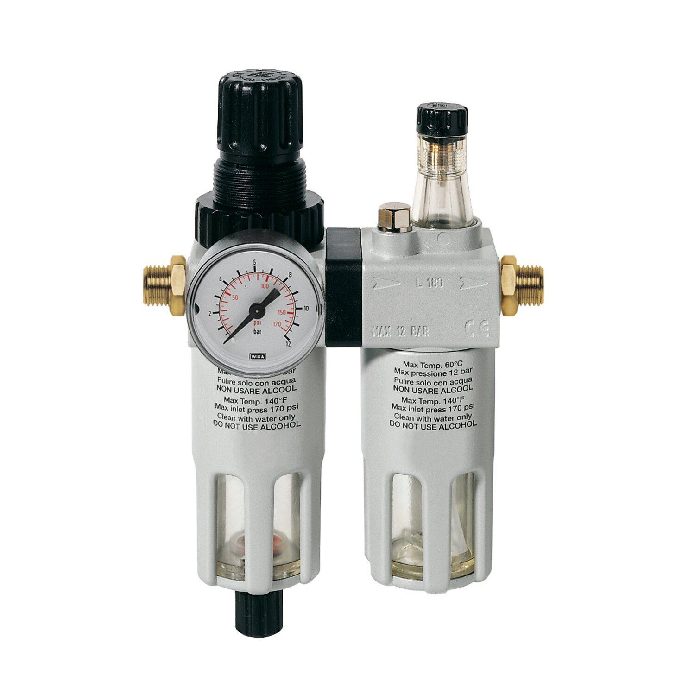 LUX Druckluft-Wartungseinheit 11,5 mm (G1/4) IG / 16,7 mm (G3/8) AG