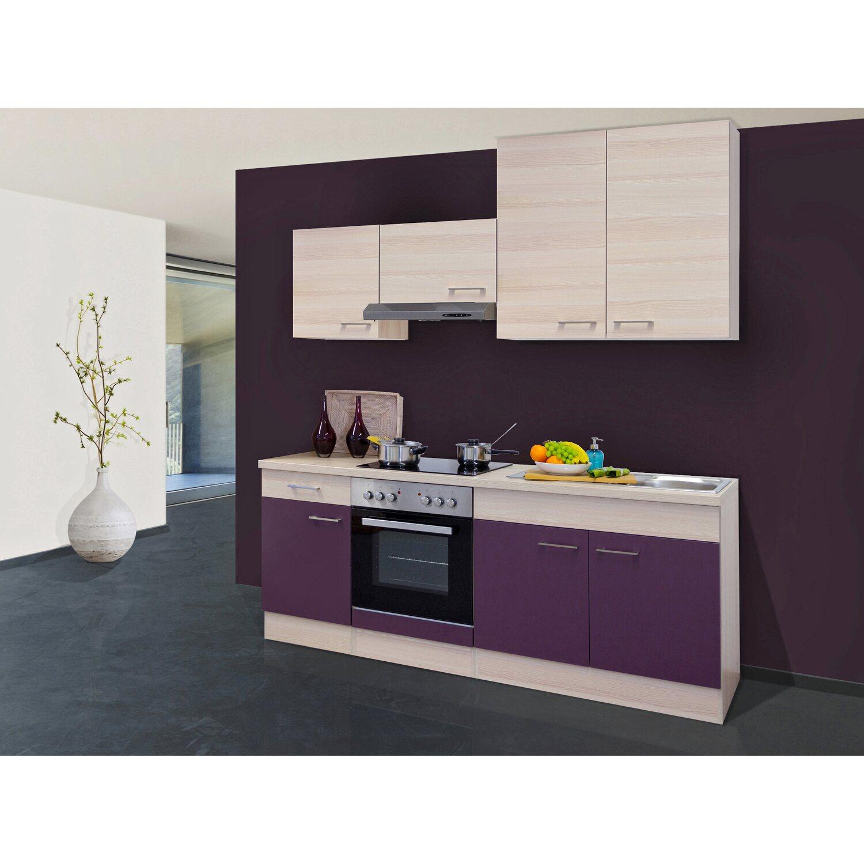flex well exclusiv k chenzeile focus 210 cm akazie. Black Bedroom Furniture Sets. Home Design Ideas