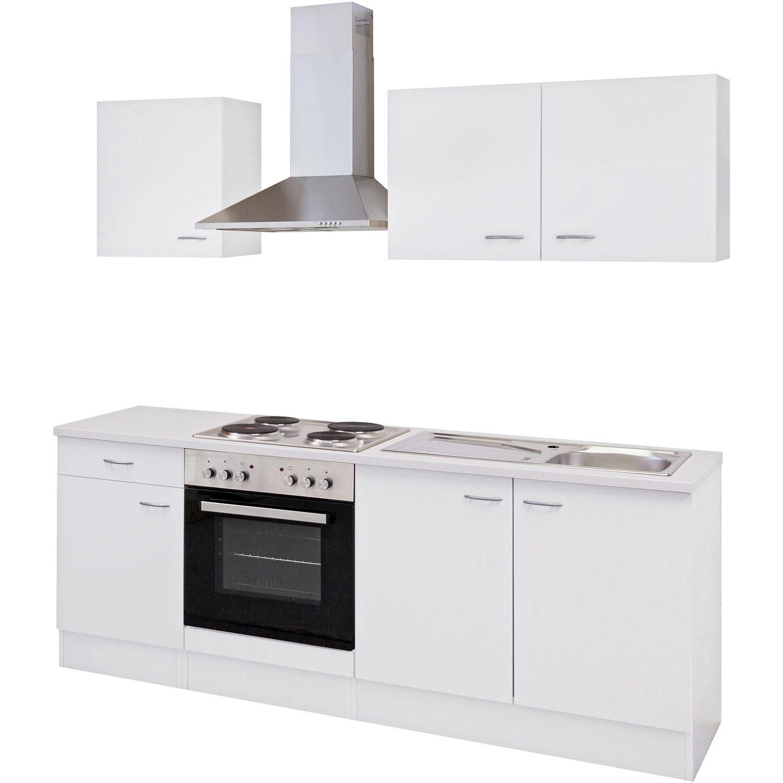 flex-well classic küchenzeile wito 210 cm weiß kaufen bei obi - Küche 210 Cm