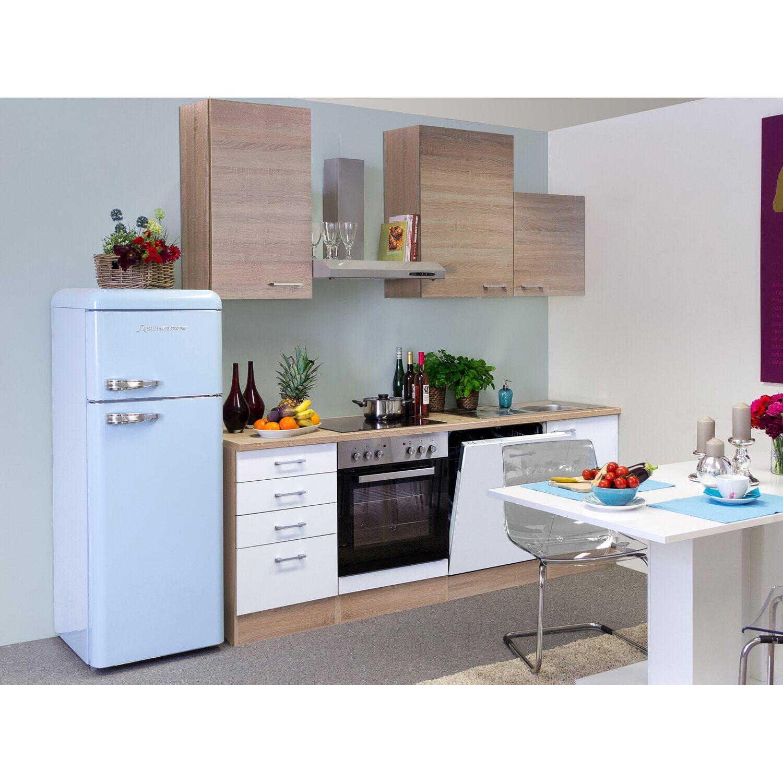Flex-Well Classic Küchenzeile Florida 220 cm Sonoma Eiche-Weiß ...