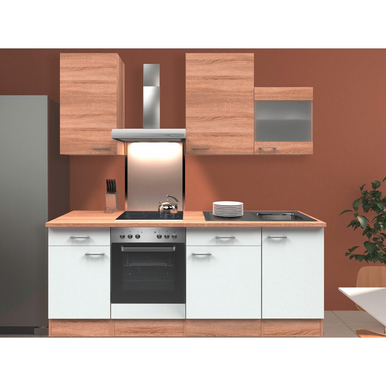 flex well classic k chenzeile florida 220 cm sonoma eiche wei sonoma eiche kaufen bei obi. Black Bedroom Furniture Sets. Home Design Ideas