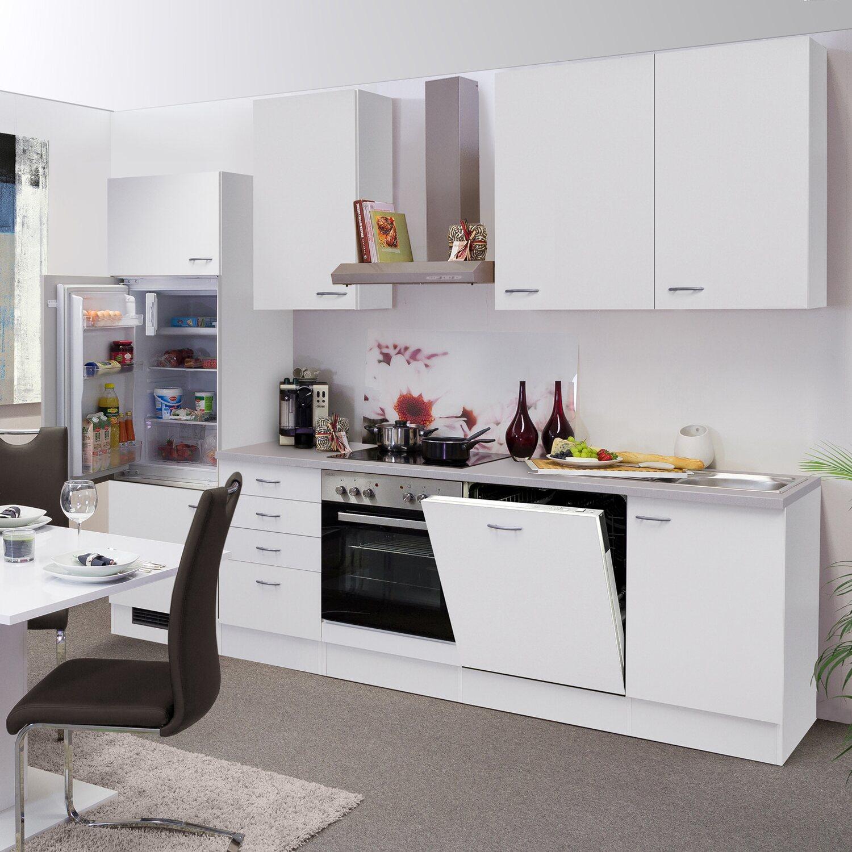Flex-Well Classic Küchenzeile Wito 280 cm Weiß