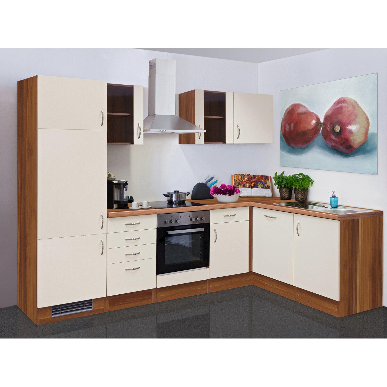 Winkelküche flex well exclusiv winkelküche 280 cm creme zwetschge