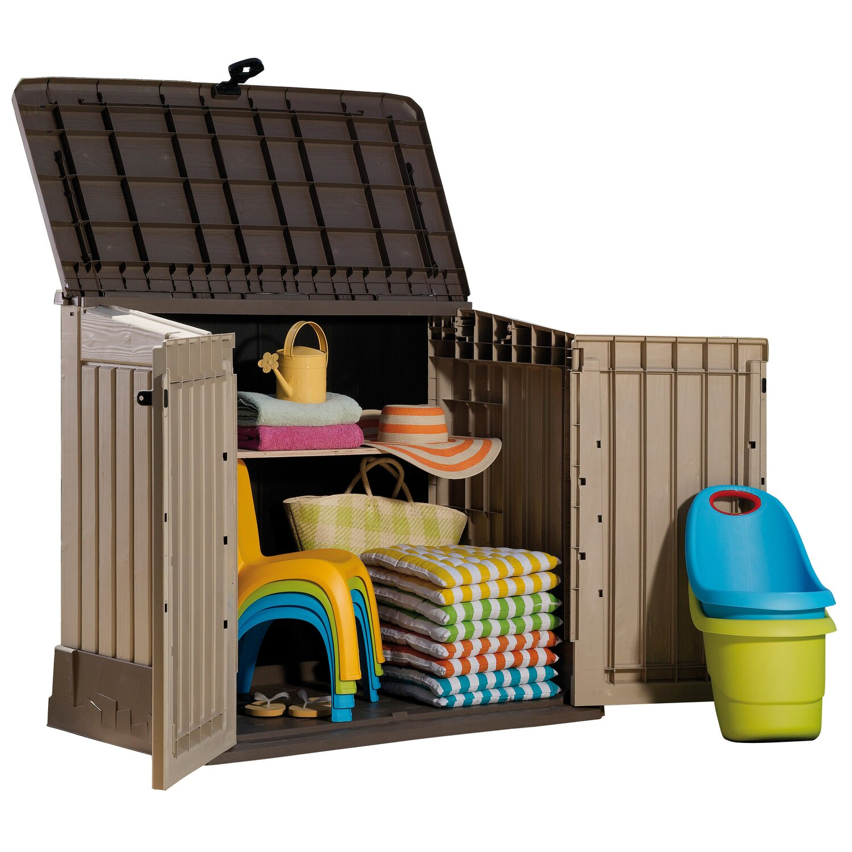 keter garten universalbox store it out beige braun kaufen bei obi. Black Bedroom Furniture Sets. Home Design Ideas