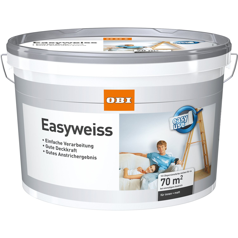 Obi Weiße Farbe : obi innen und wandfarbe easyweiss matt 10 l kaufen bei obi ~ Watch28wear.com Haus und Dekorationen