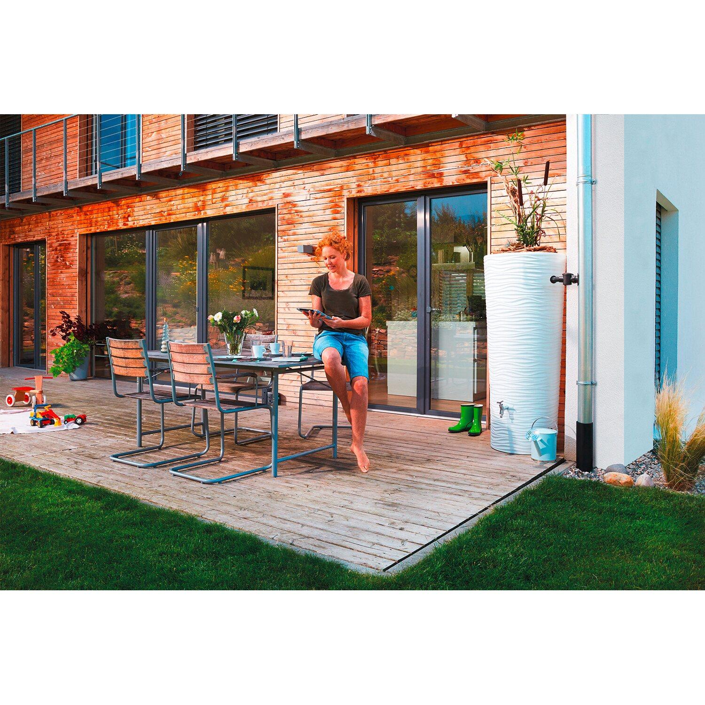 natura 2in1 regenwasser beh lter 350 l wei kaufen bei obi. Black Bedroom Furniture Sets. Home Design Ideas