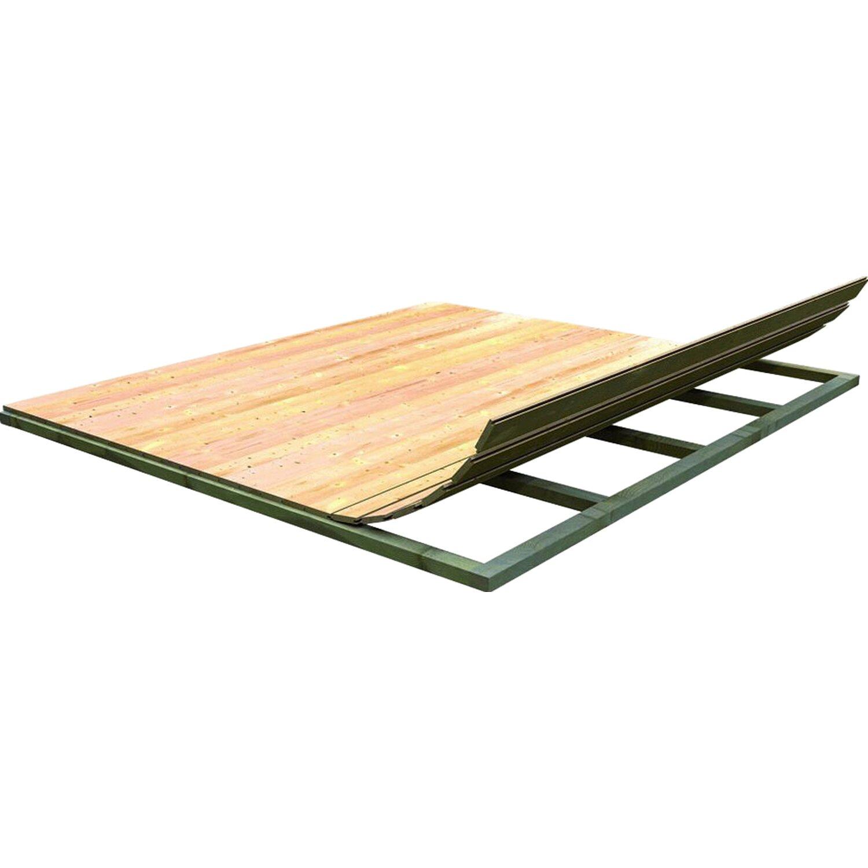 Karibu Fußboden für Gartenhaus, Sockelmaß 175x175 cm