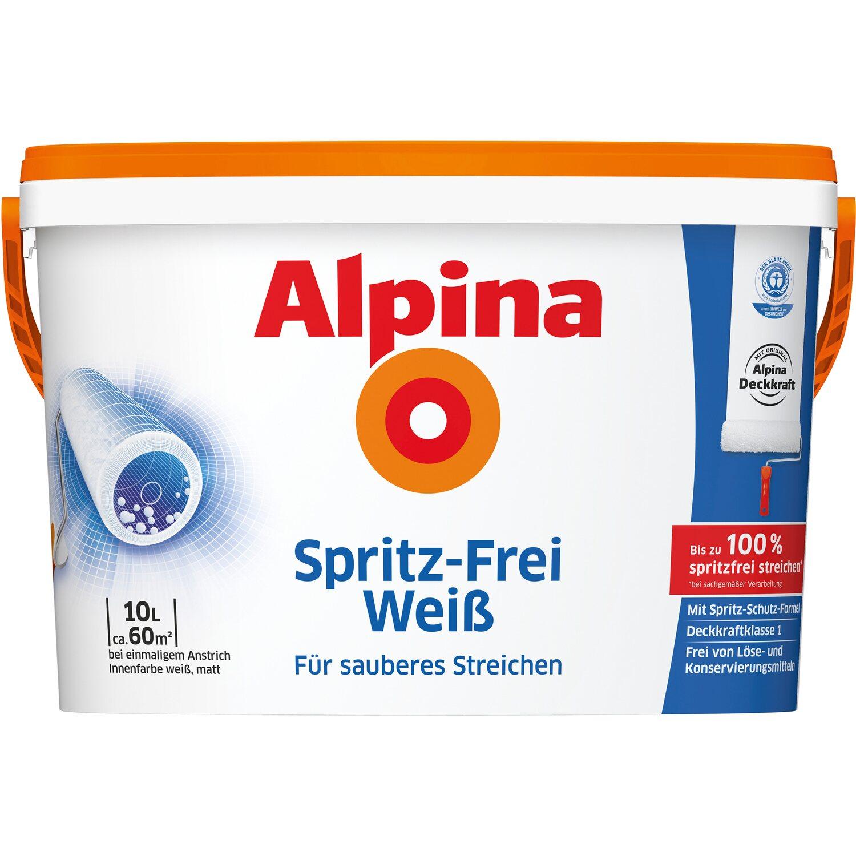 alpina spritzfrei wei matt 10 l kaufen bei obi. Black Bedroom Furniture Sets. Home Design Ideas