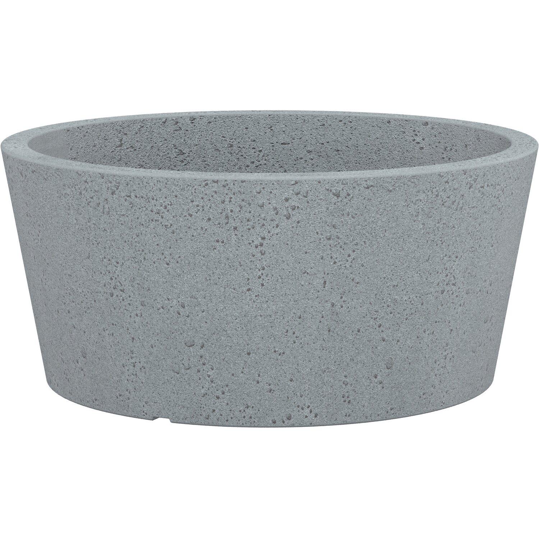 Scheurich Pflanzschale C-Cone Ø 39 cm Stony Grey | Garten > Pflanzen > Pflanzen | Grey | Kunststoff | Scheurich