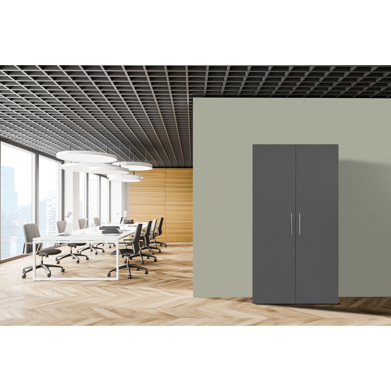 Respekta Schrankküche SKWGC reversibel Grau-Weiß | Küche und Esszimmer > Küchen > Miniküchen | Grau | Respekta
