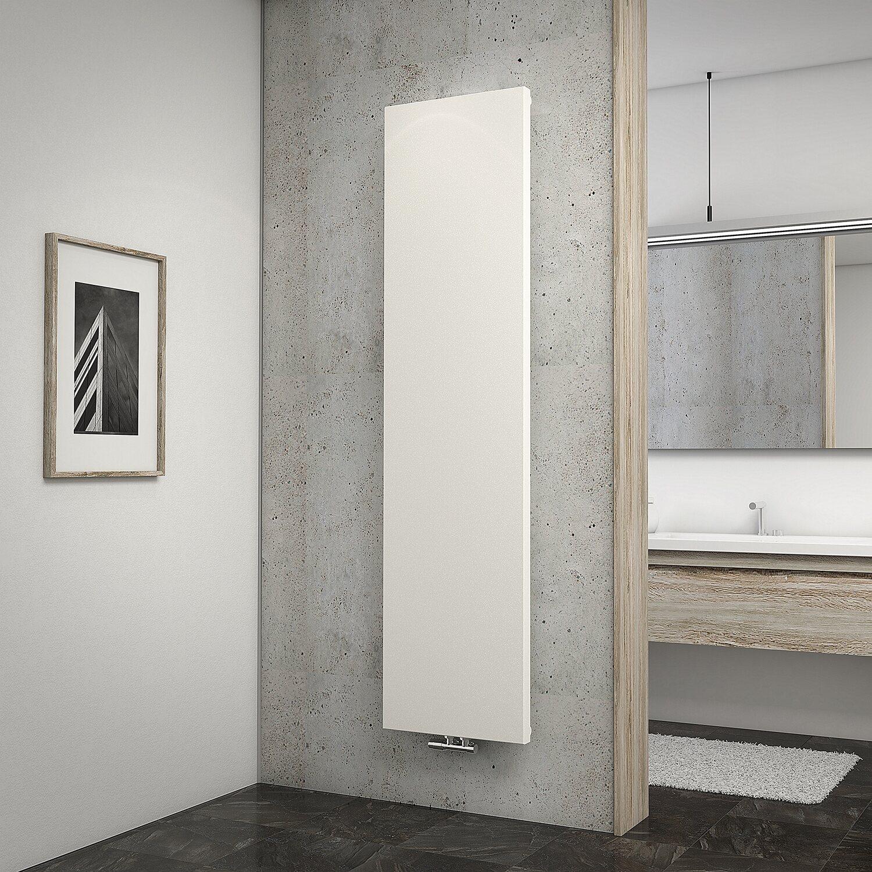 Schulte Design-Heizkörper New York mit Mittenanschluss 805 W Pearl Weiß