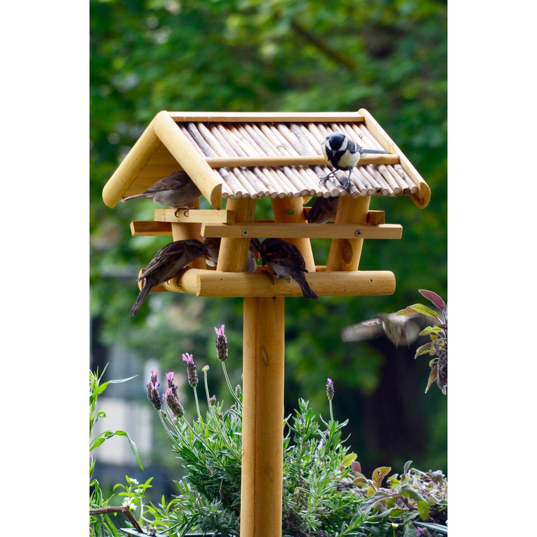 dobar vogelfutterhaus aus nadelholz mit st nder kaufen bei obi. Black Bedroom Furniture Sets. Home Design Ideas