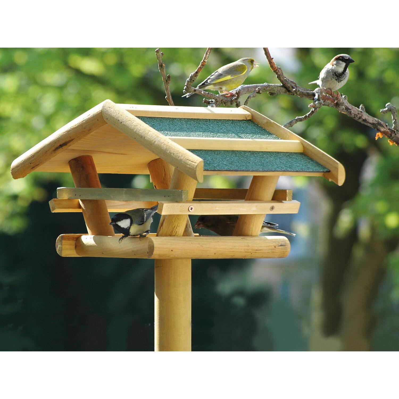 dobar vogelfutterhaus mit bitumendach mit st nder kaufen. Black Bedroom Furniture Sets. Home Design Ideas